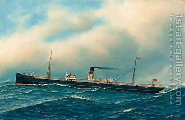 Ship Portrait by Antonio Jacobsen