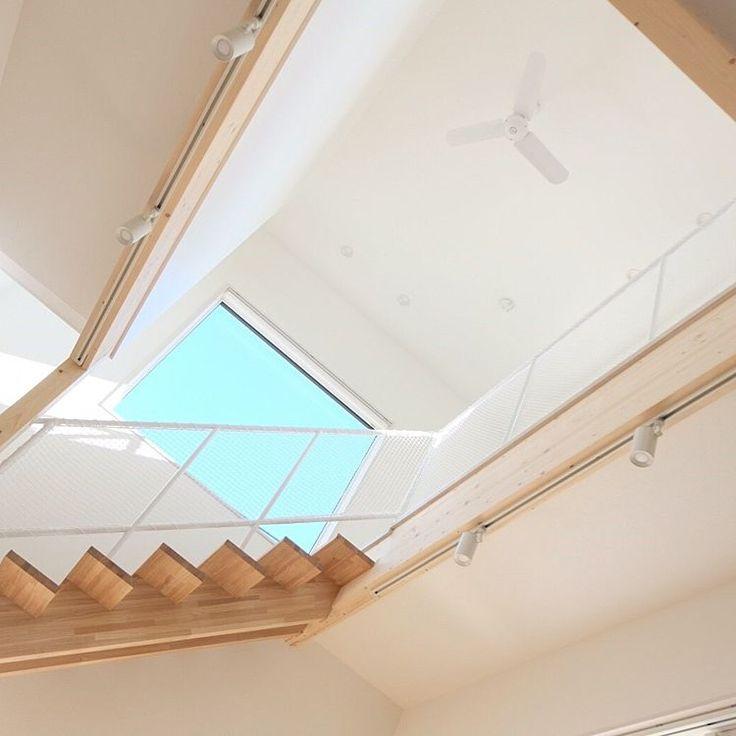 LED/照明/吹き抜け/吹き抜けリビング/リビング階段/ストリップ階段…などのインテリア実例 - 2017-05-02 11:30:09   RoomClip(ルームクリップ)
