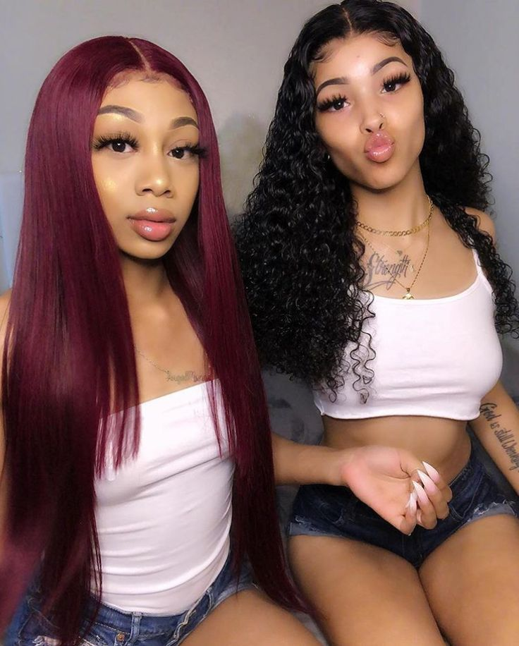 Pre-Colored Hair Weave Wine Red Human Hair Bundles With Lace Closure