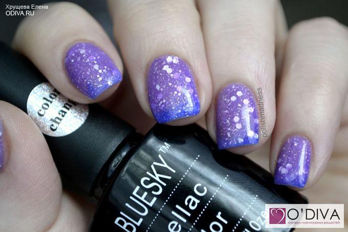Bluesky, термо гель-лак Shellac (фиолетово-сиреневый TC034) http://odiva.ru/~IHwts #гельлак #шеллак #shellac #bluesky #блюскай #дизайнногтей #ногти #идеиманикюра #маникюр