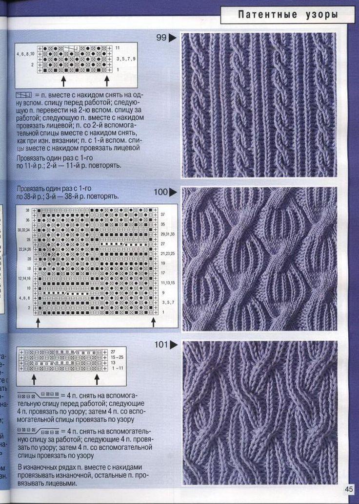 Вязание спицами косы схемы на ПростоСхема.ру