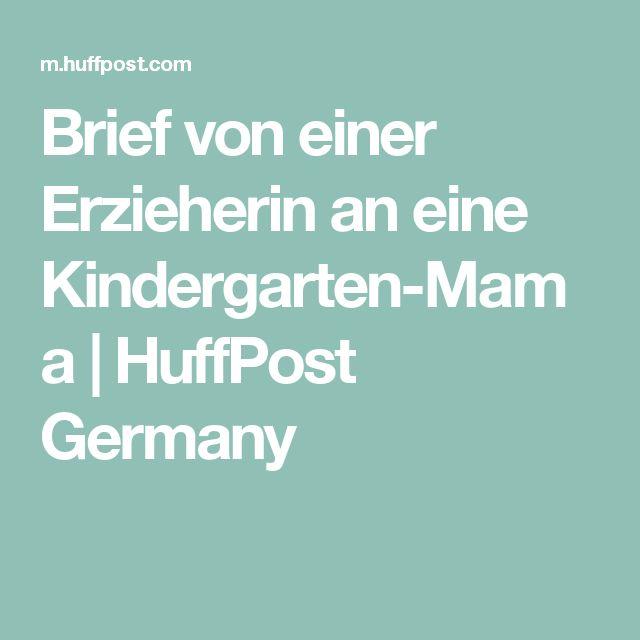 Brief von einer Erzieherin an eine Kindergarten-Mama | HuffPost Germany
