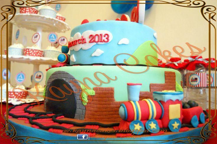 Raymond Alvaro's train cake for manyek celebrations.