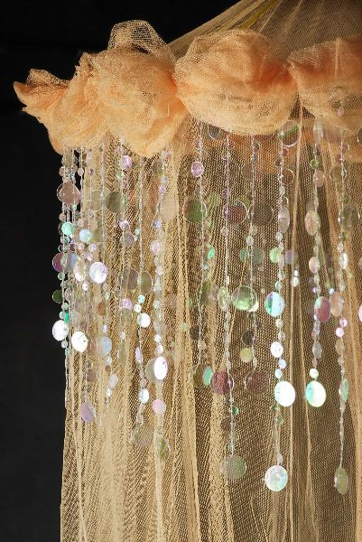 Heavenly Peach Bed Canopy Net  $29