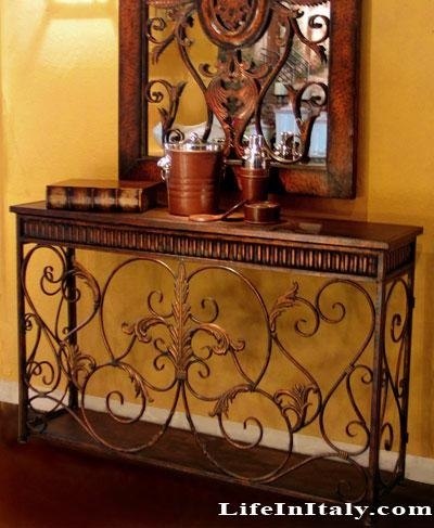 Tuscany Decor Console Table And Mirror