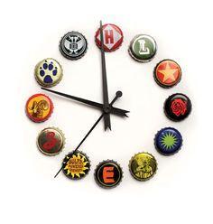 "Bottle Cap Clock www.LiquorList.com  ""The Marketplace for Adults with Taste!""  @LiquorListcom  #liquorlist"