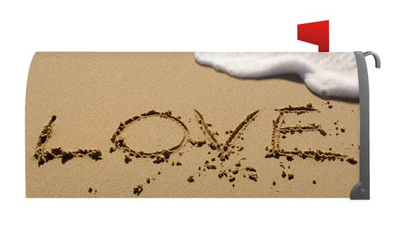 Mailbox Covers Valentine beachy-love