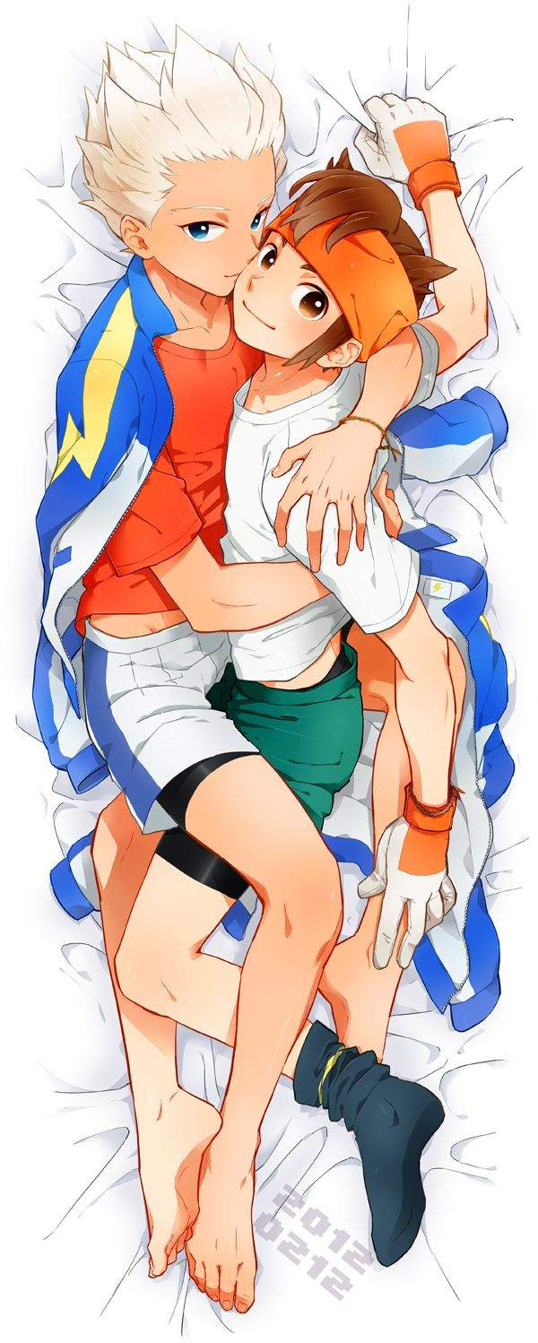 Gouenji and Endou from Inazuma Eleven
