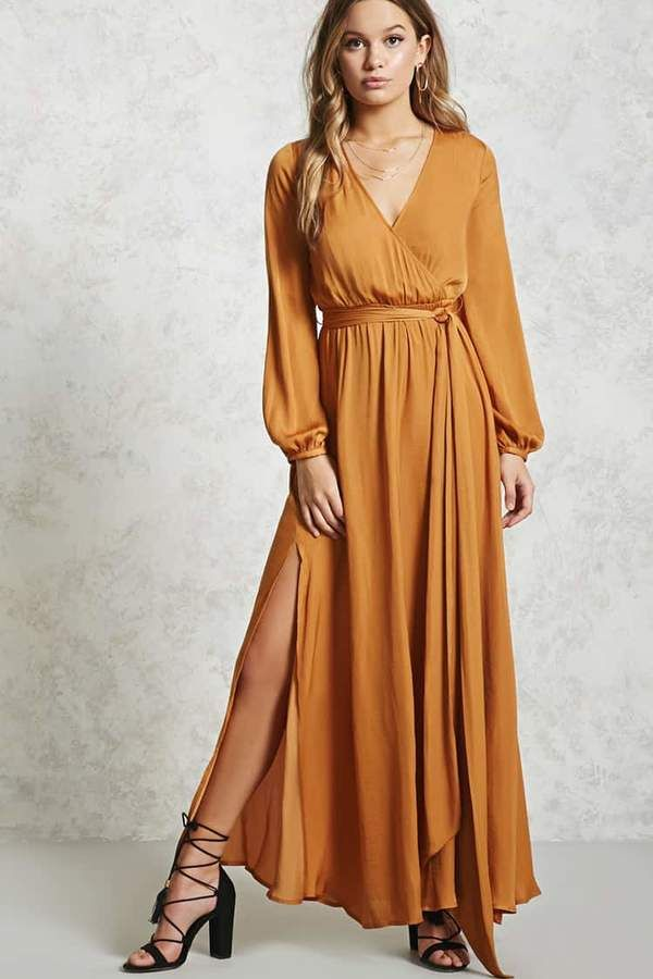 2a68d2713e FOREVER 21 Belted Surplice Maxi Dress  dresses  fashion  style affiliate