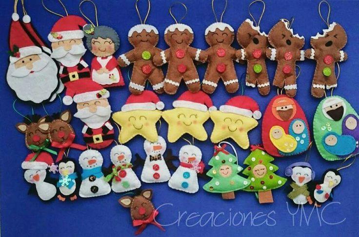 Todo Para decorar tu árbol de Navidad   #fieltro