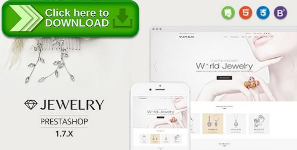 [ThemeForest]Free nulled download Jewelry - Responsive Prestashop 1.7 Theme from http://zippyfile.download/f.php?id=16844 Tags: accessories, beauty, commerce, cosmetic, fashion, flexible mega menu, html5 css3 animation, jewelry, minimal simplicity elegant, mobile fist friendly, multi purpose, shoes