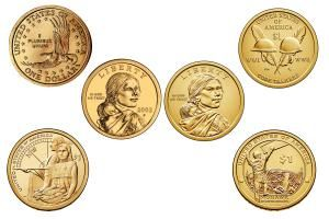Sacagawea and Native American One Dollar Coins - Image Courtesy of: The United States Mint, www.usmint.gov