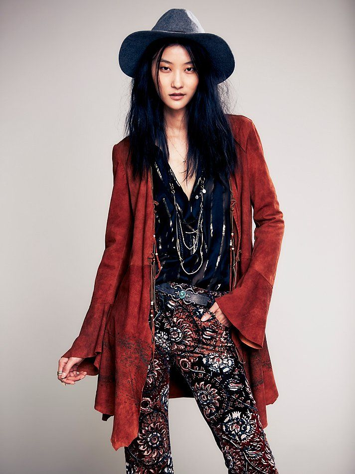 Free People Chilli Painted Suede Jacket, $1000.00