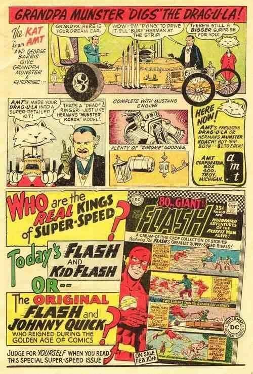 The Munsters: Grandpa's Dragula Hot Rod Comic Strip from the 1966 TV Show