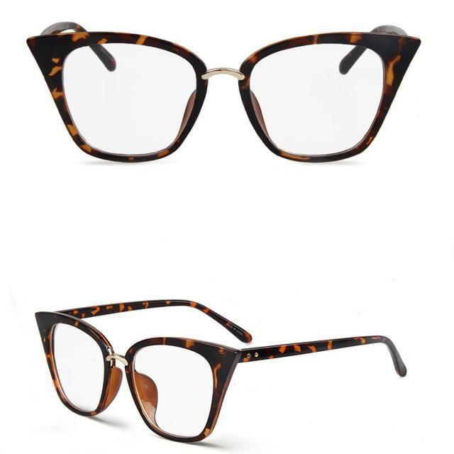 2017 Cat Eye eye glasses frames For Women Brand Designer Eyeglasses M nail Clear Lens glasses Frame Oculos De Sol Feminino gafas