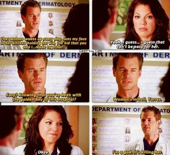 Oh Sloan.. how we all miss you! -- Grey's anatomy