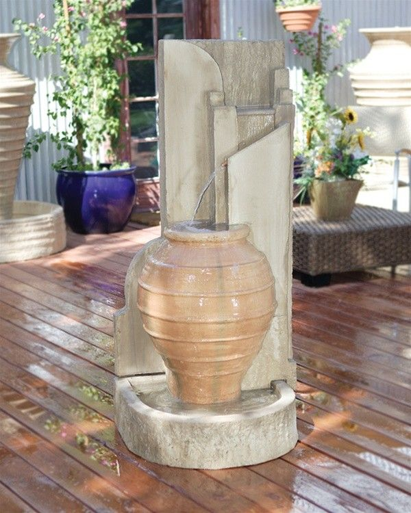 This Easy To Install Exterior Water Wall Is Wonderful For An Office Patio.  Please Visit