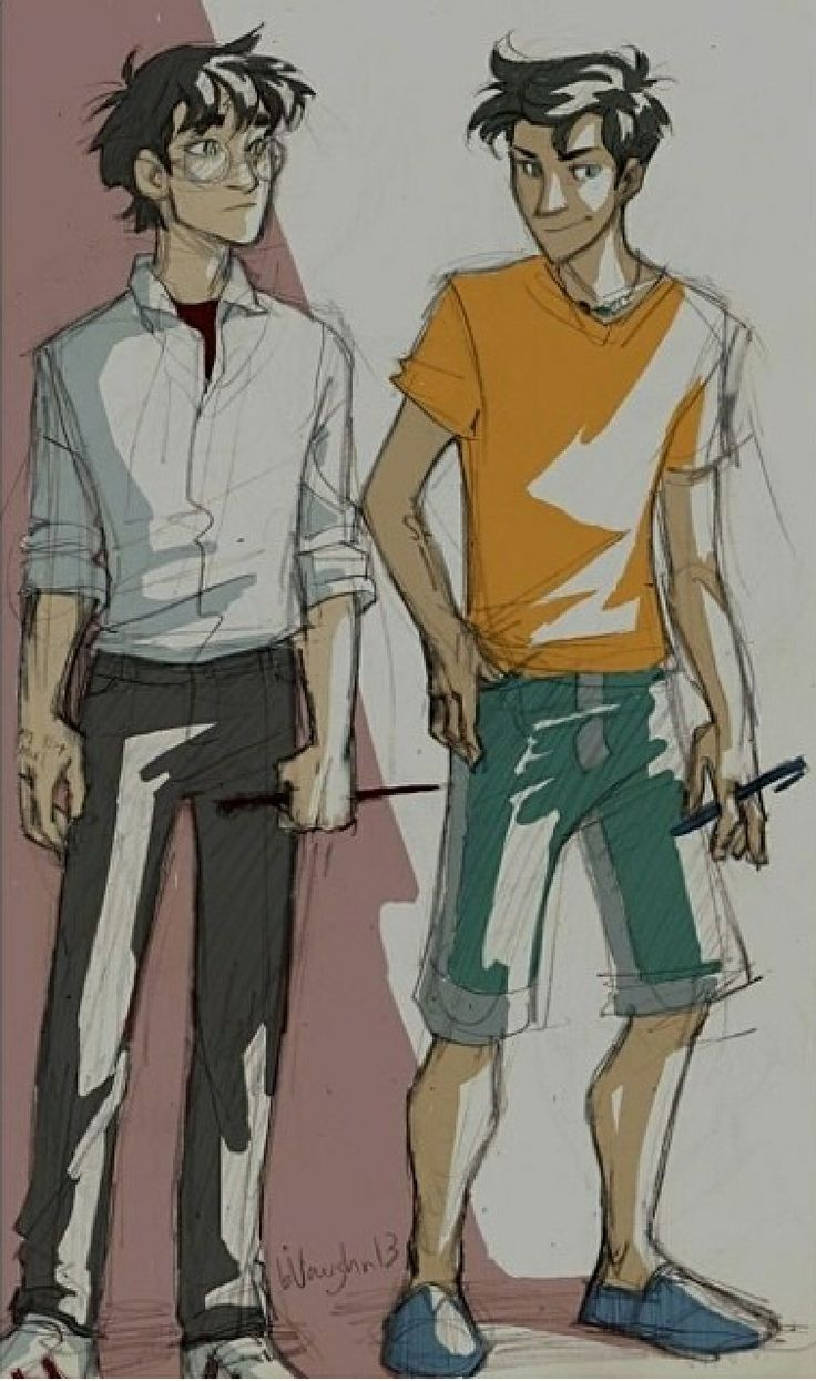 Harry Potter and Percy Jackson  Art by burdge bug