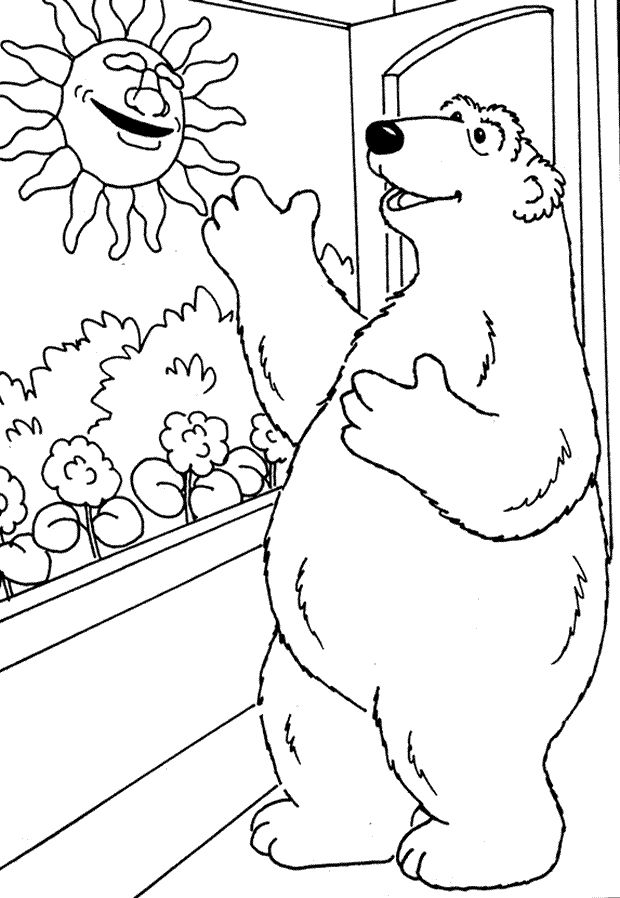 Big brown bear coloring pages ~ Bear in the big blue house | Kids Colouring Pages ...