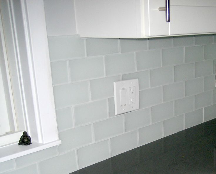 Frosted glass subway tile backsplash - 21 Best Images About Frosted Glass Tile Kitchen On Pinterest