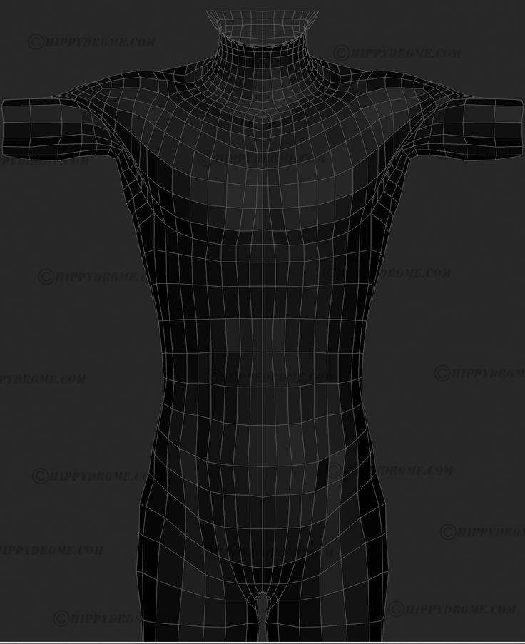 hippydrome front torso wireframe