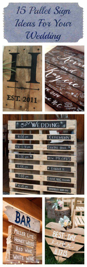 Pallet Sign Ideas For Your Wedding