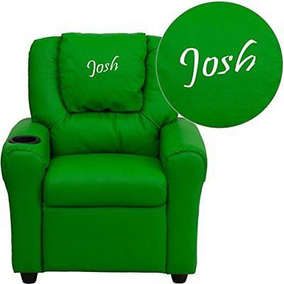 Sofas and Armchairs 134648: Flash Furniture Personalized Vinyl Kids Recliner With Cup Holder And Headrest, -> BUY IT NOW ONLY: $300.76 on eBay!
