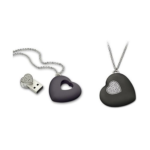 USB Heart Black, Crystal  Approximate size: 3.8 x 3.1 cm  HUF 20,000.00
