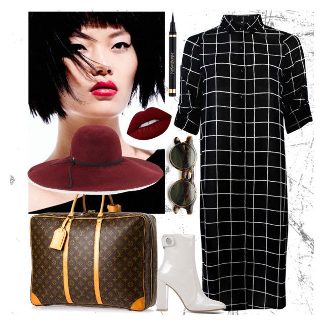 """""""Just Arrived"""" by miah-belmonte on Polyvore featuring Louis Vuitton, Gianvito Rossi, Lime Crime and Inverni"""