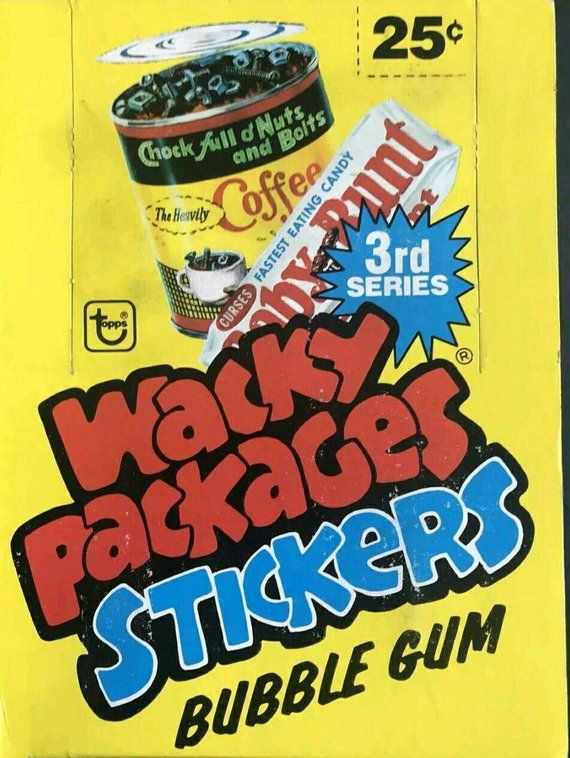 Surprise Vintage Wacky Packages Sticker Pack Funny Advertising Stickers 70s 80s Retro Ads Parody Sticker S3 Topps T Topps Trading Cards Funny Advertising Wacky