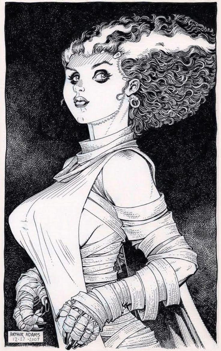 La Novia de Frankenstein por Arthur Adams.