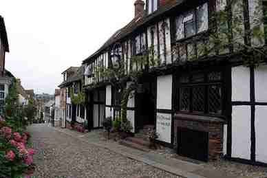 The Mermaid Inn is reputed to be one of the most haunted pubs in England.  It is an atmospheric, thatched roof building, filled with secret passages, priest-holes and sliding wall panels,