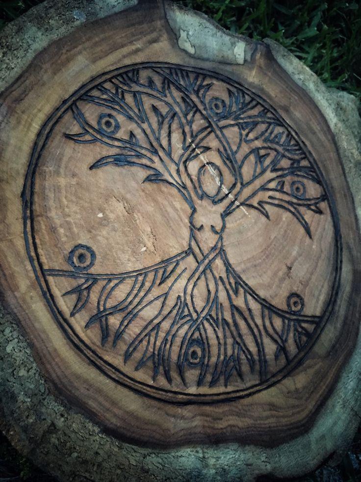 Image of ~Mother Nature #CrystalGrid #Crystals #SacredGeometry #CrystalHealing #TreeofLife #Nature #Woodburned #handmade #Sacred #Spiritual #Spirituality #Metaphysical #MoonlitMystique