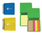 PFN - BIC® Adhesive Memo Notepad. Holds 3 x 3, 25 sheet (yellow) adhesive notepad and 125 adhesive paper flags (25 each of 5 colors) Artwork can be in a horizontal or vertical layout. For details on how to order this item with your logo branded on it contact ww.fivetwentyfour.ca