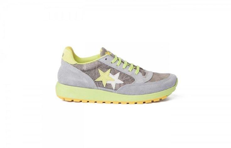 Sneaker uomo 2 star 2SU1159 verde acido grigio spring summer new 45 45 45