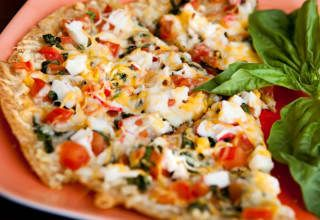 Anything goes well with pizza. Recipe here.