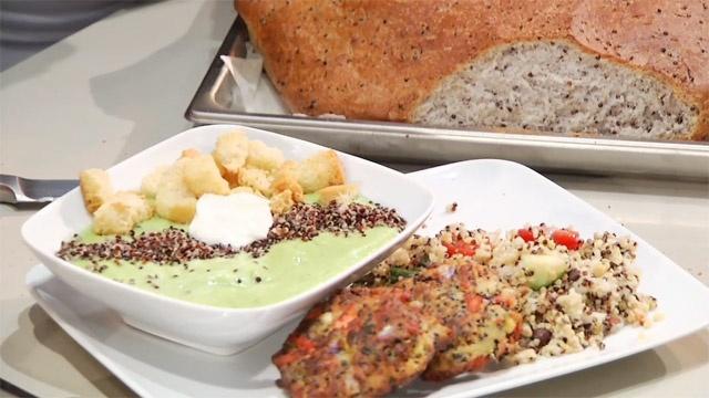 BYUtv - Chef Brad: Fusion Grain Cooking - Black Beans and Black Quinoa.... My all time favorite salad! Recipe: http://www.chefbrad.com/recipes/details.php?recipe=_id=231