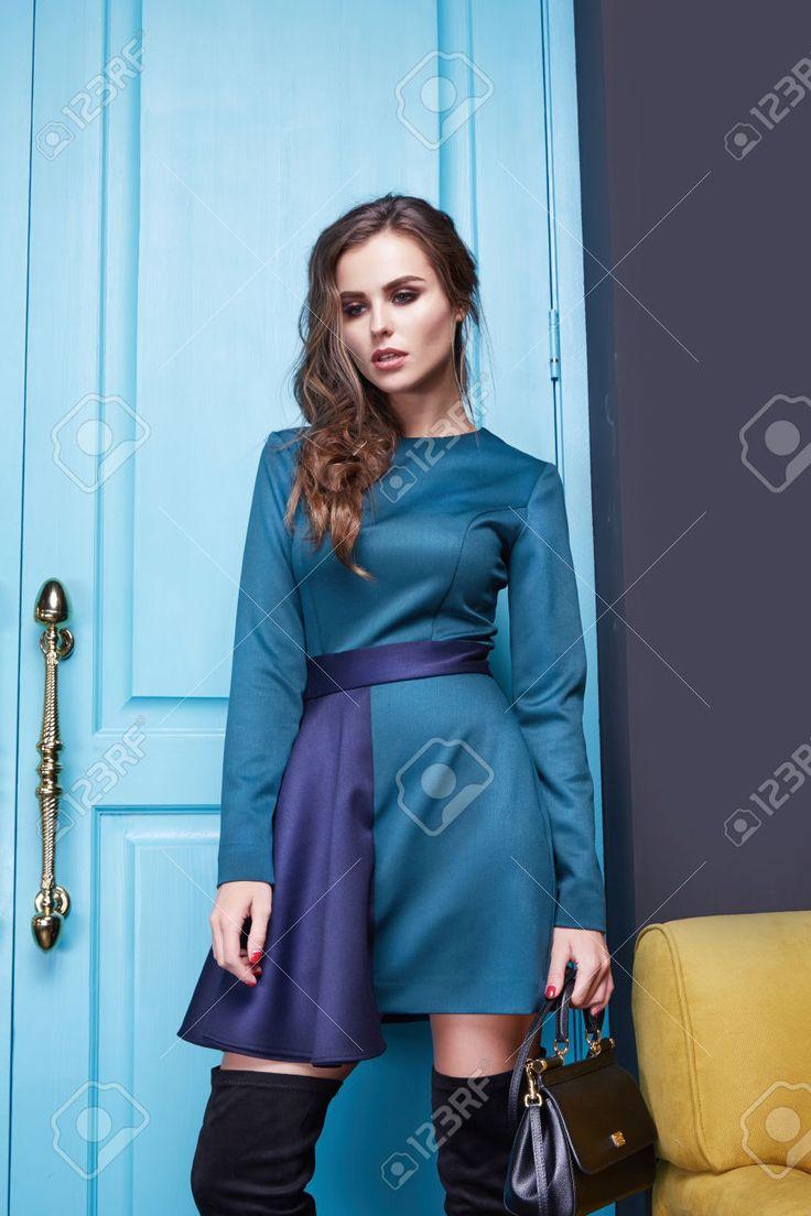 Trucco per un abito blu xpress