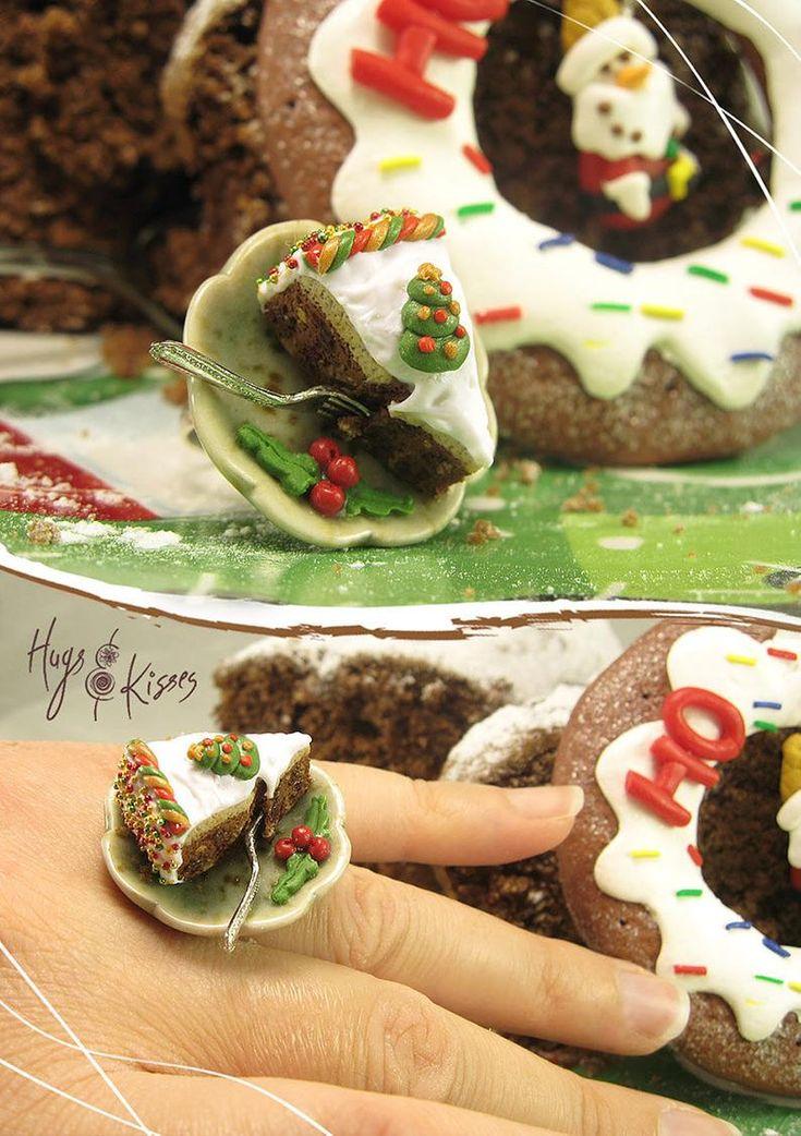 Christmas British Cake Ring Fruit Cake Ring Festive