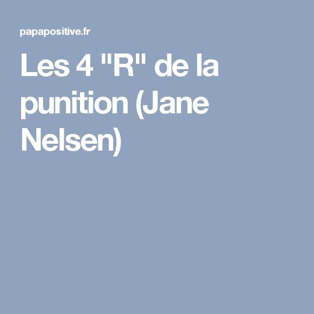 """Les 4 """"R"""" de la punition (Jane Nelsen)"""