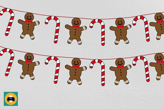 ◆Printable Candy cane and Gingerbread man banner, Christmas décor crafts, Printable bunting, Kids garland◆  INSTANT DOWNLOAD - Printable Christmas banner. Just print, cut and fold over string or ribbon. A really enjoyable craft for the season for your kids this Christmas. This is a digital file you can print as many times as you wish. ◆WHATS INCLUDED: Within minutes of your order and payment, an email will be sent to the address you have associated with your Etsy account with a link to…