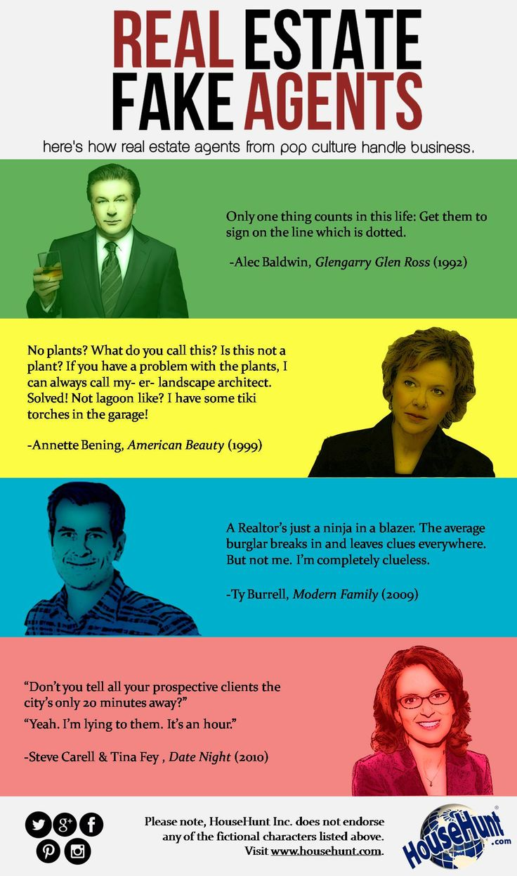 Real Estate Fake Agents #infographic