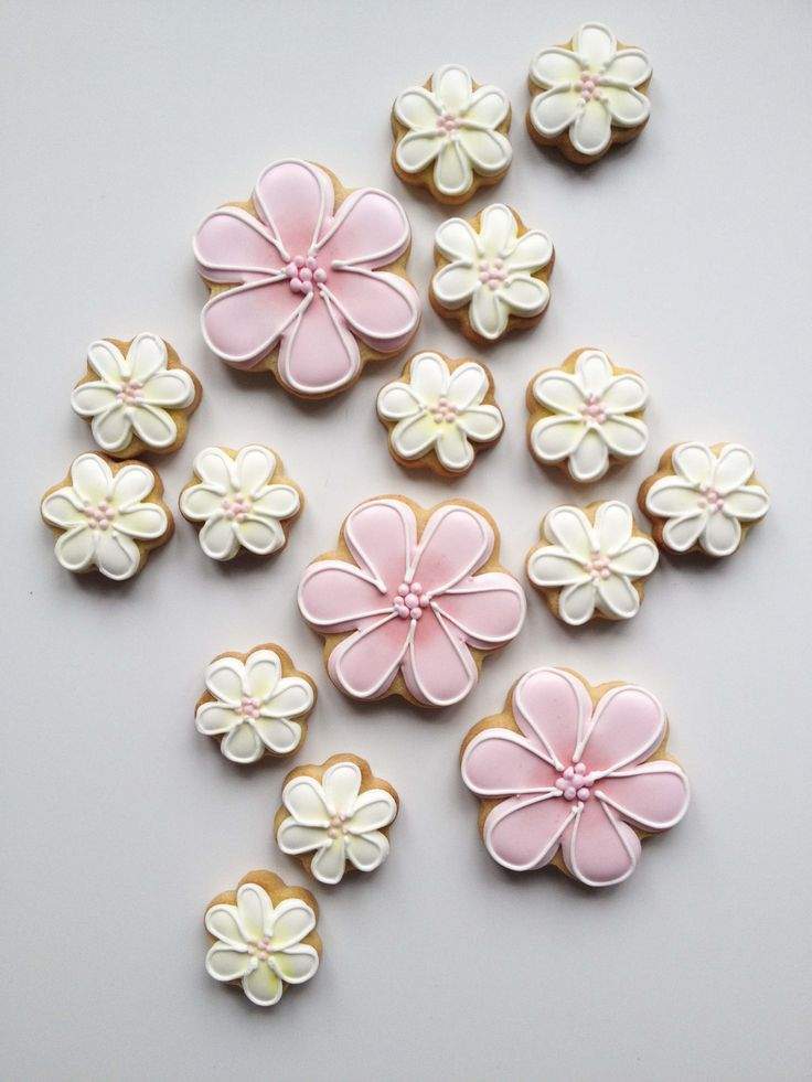 Blossom iced biscuits