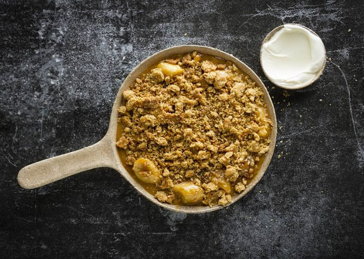 Banana and pecan caramel crumble as seen on Afternoon Express