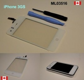 WHITE iPhone 3GS Digitizer touch Glass with Home Button  Price = $19.50