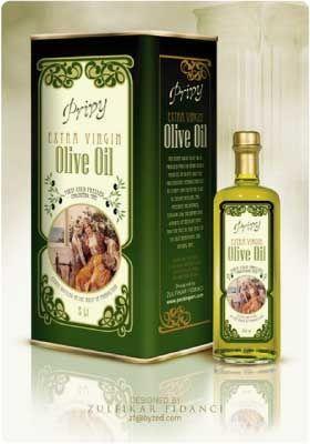 Etichette per prodotti alimentari: esempi bottiglie olio d'oliva
