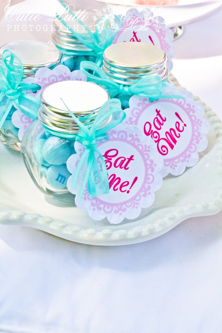 Alice in Wonderland Party, Mad Hatter Tea Party - Printable EAT ME TAGS - Cutie Putti Paperie  - Cutie Putti Paperie