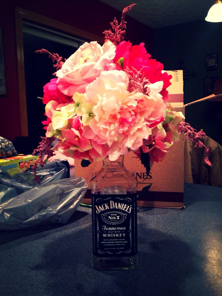 Creating Jack Daniels center pieces for upcoming weddings :)