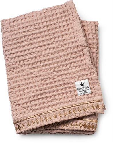 Elodie Details, Cotton waffle blanket, Gilded Tæpper, plaider & skind Tekstiler Børneværelser på nettet hos Lekmer.dk