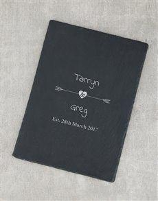 gifts: Personalised Arrow Date Slate Board!